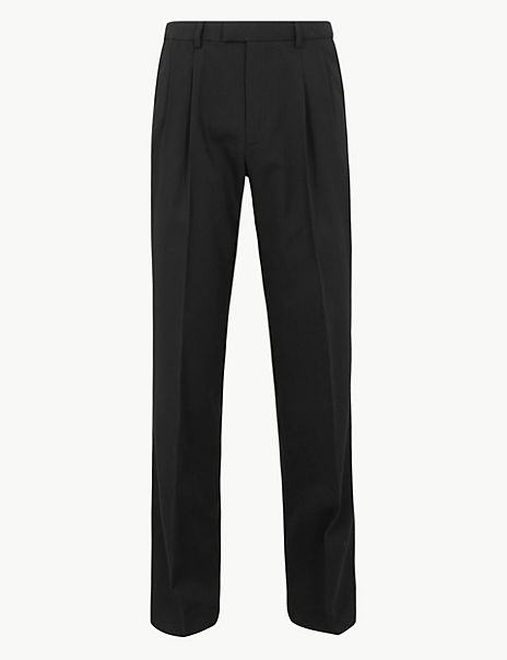 Regular Fit Pleated Trousers