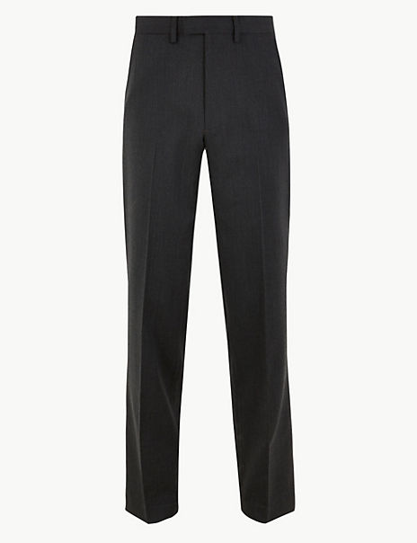 Big & Tall Wool Blend Regular Fit Trousers