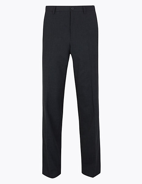 Regular Fit Stretch Checked Trousers