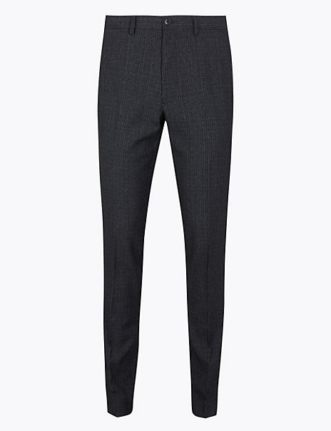 Skinny Fit Checked Trousers
