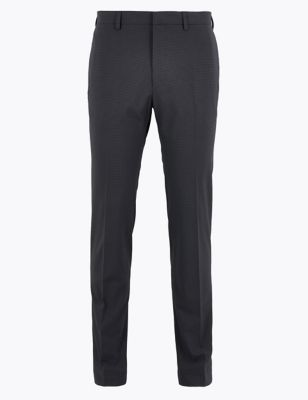 Skinny Fit Microcheck Trousers