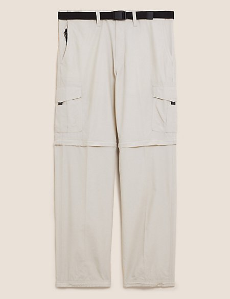 Trekking Zip-Off Trousers with Belt