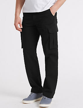 Pure Cotton Cargo Trousers