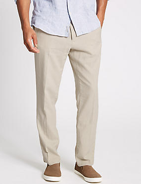 Slim Fit Linen Rich Chinos