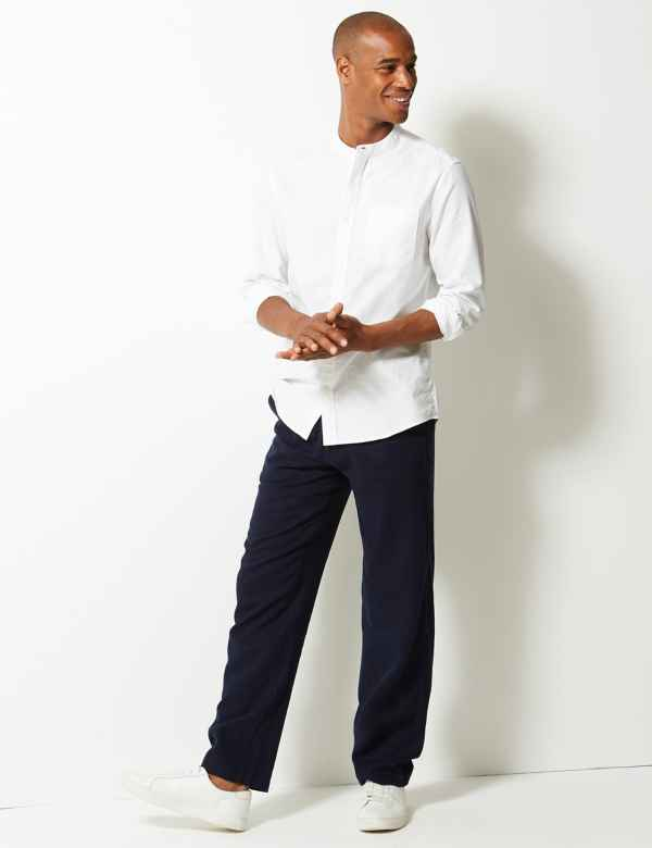 5c0f7bed5e5 Linen Rich Trousers. New. M S Collection