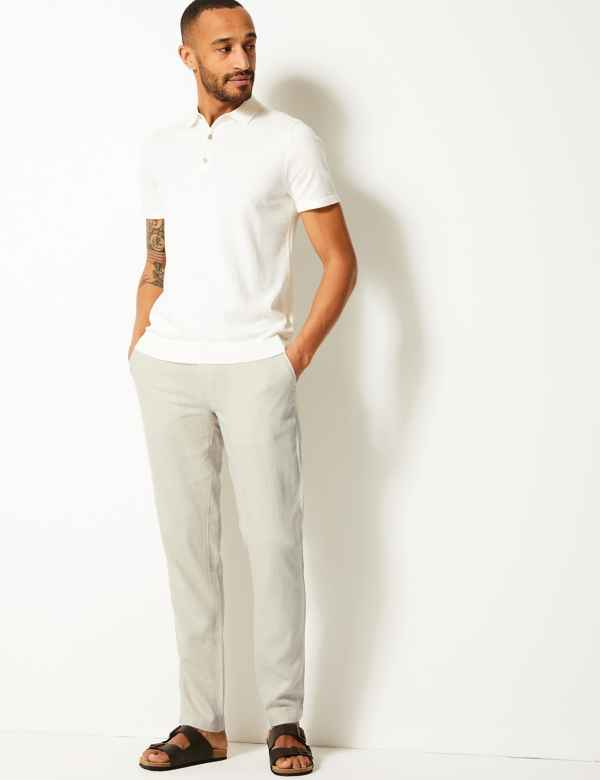 new product 60% clearance latest selection Size 44 Linen trousers Trousers
