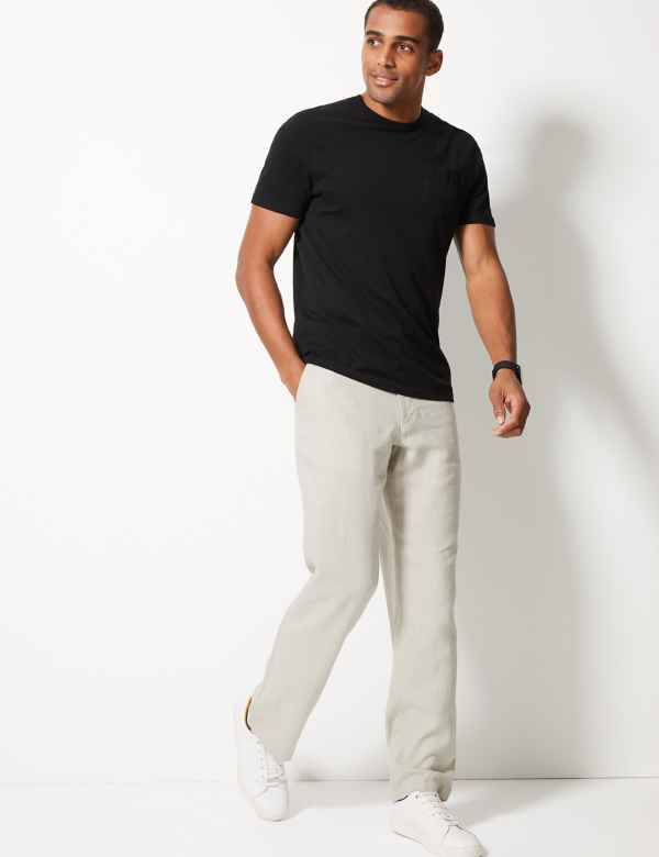 a8a668e75dd Big   Tall Linen Rich Trousers. Big   tall sizes available
