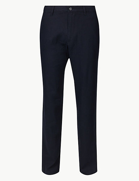Big & Tall Linen Rich Trousers