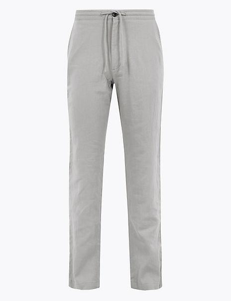 Regular Fit Linen Trousers
