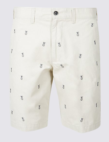 Pure Cotton Embroidered Shorts