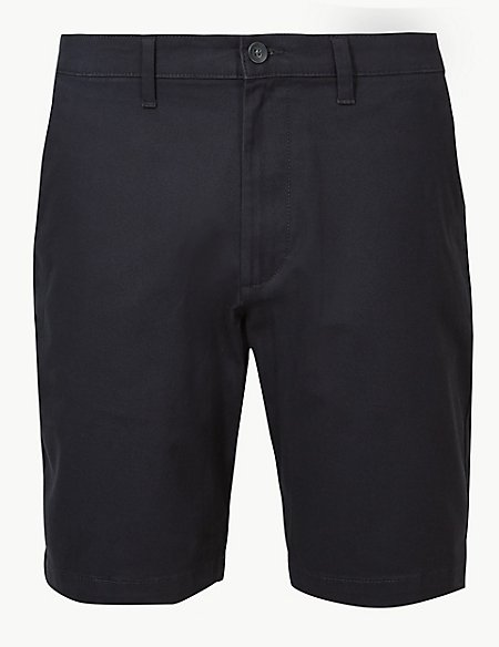 Cotton Rich Chino Shorts with Stretch