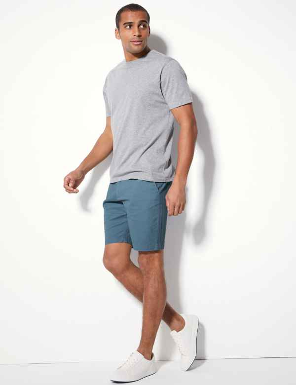 b612e2fd1420 Cotton Rich Chino Shorts with Stretch