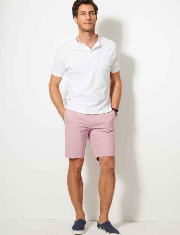 Free Shipping Summer Big Men Shorts Male Casual Cargo Slim Cotton Shorts Mens Straight Knee-length Short Trousers Size 30-42 Suitable For Men And Women Of All Ages In All Seasons Men's Clothing