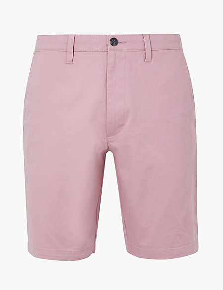 Slim Fit Chino Shorts with Stretch