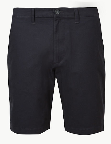 Big & Tall Cotton Chino Shorts with Stretch