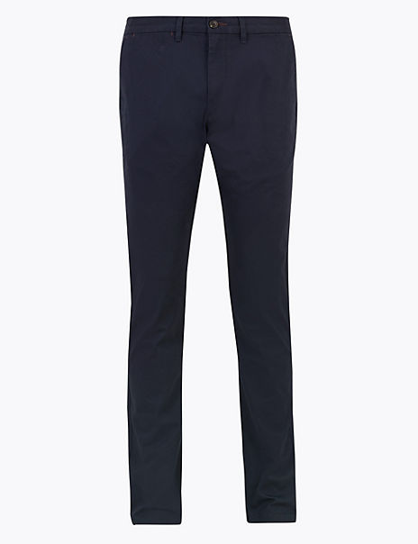 Slim Fit Cotton Stretch Chinos