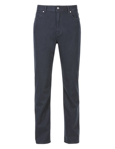 Cotton Rich 5 Pocket Textured Trousers