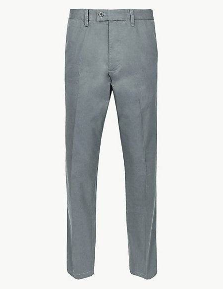 Regular Fit Cotton Rich Chinos