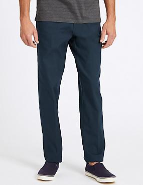 Regular Fit Cotton Rich Chinos, NAVY, catlanding
