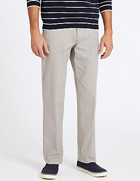 Regular Fit Cotton Rich Chinos, STONE, catlanding