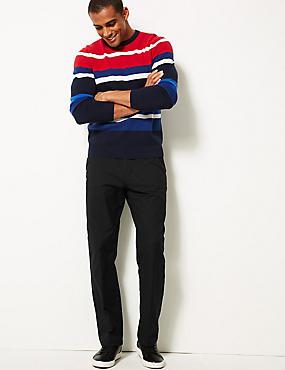 Regular Fit Cotton Rich Chinos, BLACK, catlanding