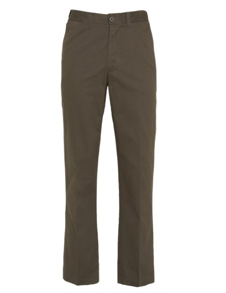 Pure Cotton Chinos with Adjustable Waist