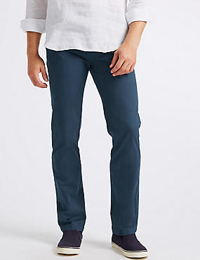 Straight Fit Pure Cotton Chinos