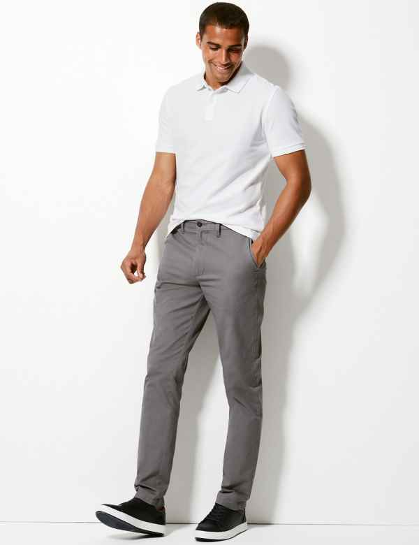 Tapered Fit Pure Cotton Chinos