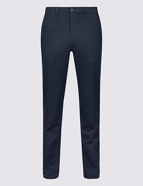 Italian Slim Fit Travel Chinos with Stretch