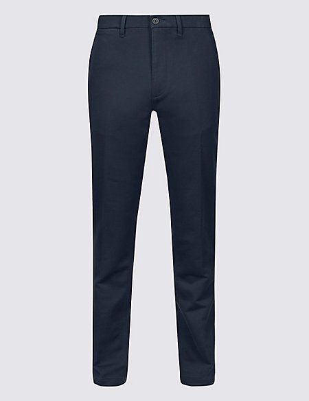 Italian Cotton Travel Chinos with Stretch
