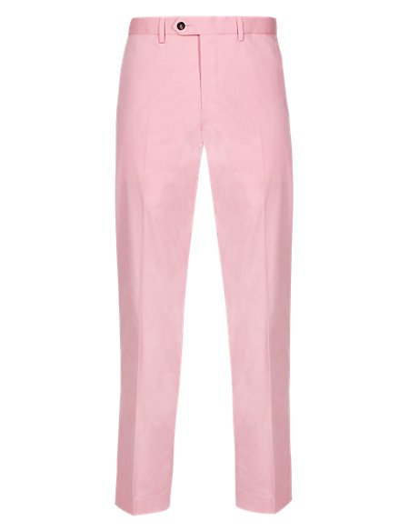 Cotton Rich Flat Front Trousers
