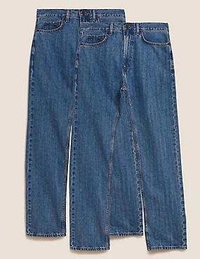 2 Pack Regular Fit Jeans
