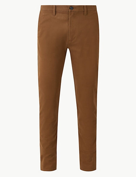 Longer Length Skinny Fit Cotton Rich Chinos
