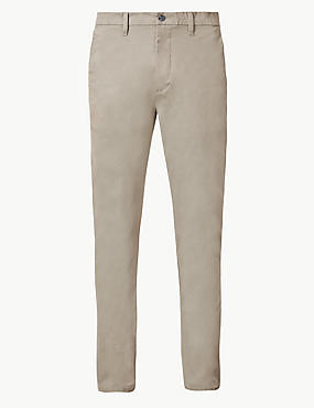 Skinny Fit Cotton Rich Chinos
