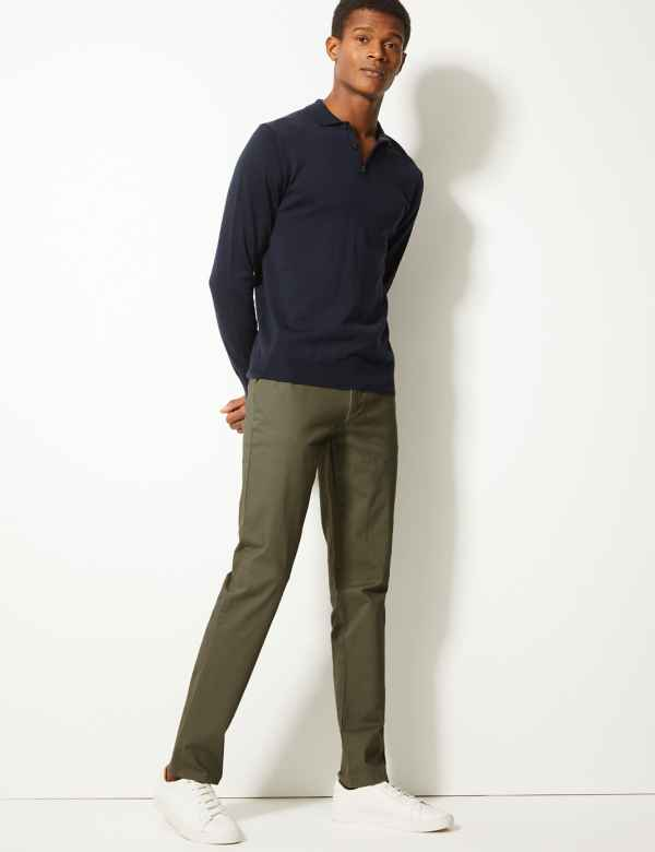 Slim Fit Chinos with Stretch 9407938be
