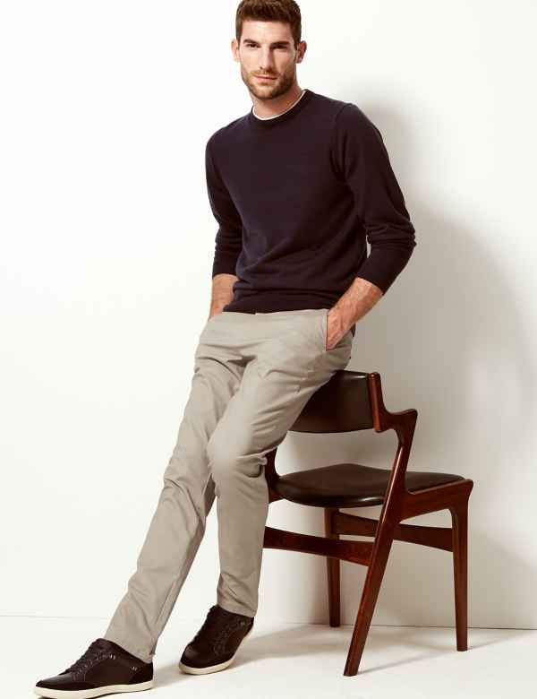 great deals on fashion reliable quality select for best Mens Chinos | Trousers & Pants For Mens| M&S