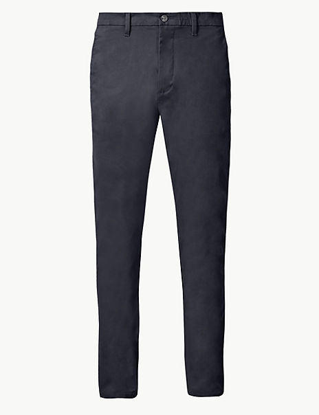Shorter Length Skinny Fit Cotton Rich Chinos