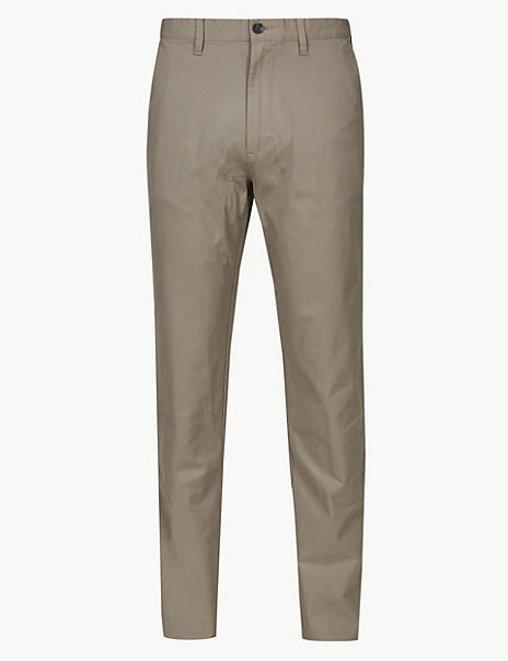 Big & Tall Cotton Chinos with Stretch