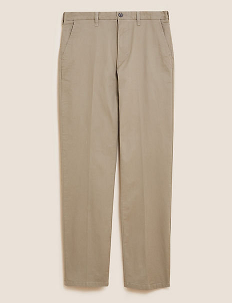 Regular Fit Cotton Rich Stretch Chinos