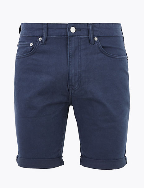 Cotton Stretch 5 Pocket Shorts