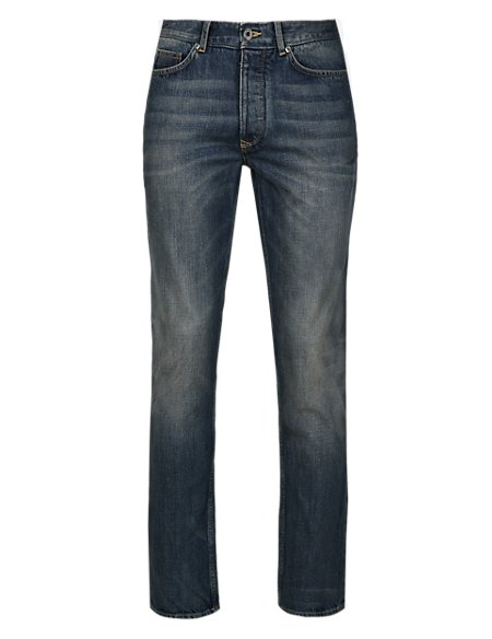 Slim Fit Authentic Washed Jeans