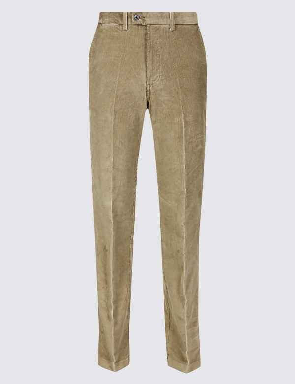 20a5e855 Regular Fit Corduroy Trousers with Stretch. New Lower Price
