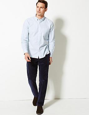 Cotton Rich Corduroy Trousers, NAVY, catlanding