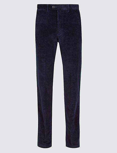 Regular Fit Corduroy Trousers with Stretch