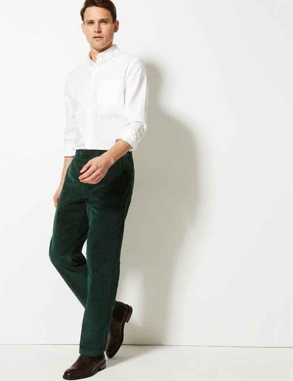Cords Mens Casual Trousers M S