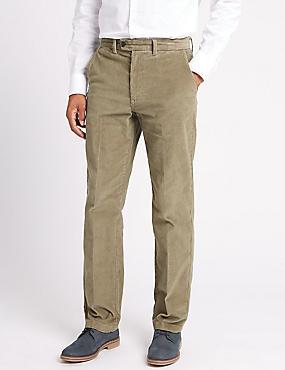 Big & Tall Regular Fit Corduroy Trousers, MOLE, catlanding