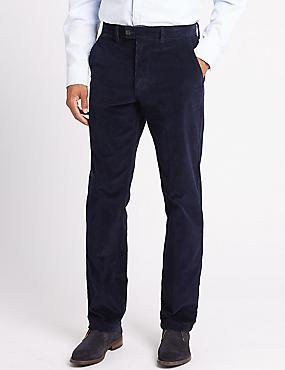 Big & Tall Regular Fit Corduroy Trousers, NAVY, catlanding