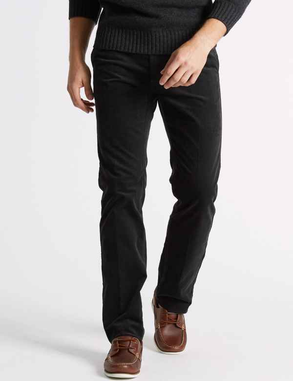 97b492b7eea Straight Fit Corduroy Trousers with Stretch