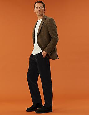 Organic Cotton Pleated Cord Trouser