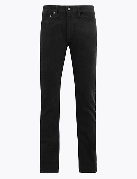 Slim Fit Corduroy Trousers with Stretch